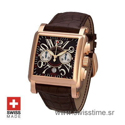 Franck Muller King Conquistador Cortez Chrono Rose Gold Black