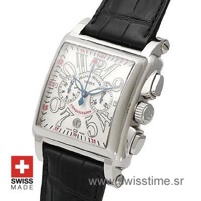 Franck Muller King Conquistador Cortez Chrono SS White-496