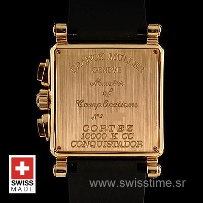 Franck Muller King Conquistador Cortez Chrono Rose Gold White-492