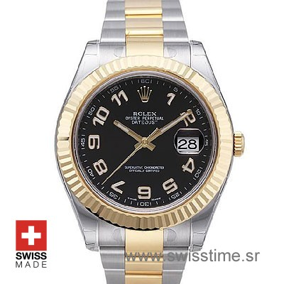 Rolex Datejust II 2Tone Black Arabic-0