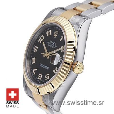 Rolex Datejust II 2Tone Black Arabic-1372