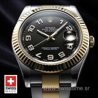 Rolex Datejust II 2Tone Black Arabic-1375