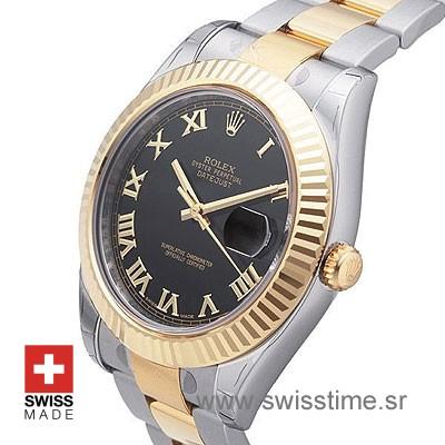 Rolex Datejust II 2Tone Black Roman-1379