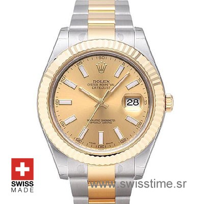 Rolex Datejust II Two Tone Gold Watch | Swiss Replica Watch