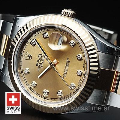 Rolex Datejust II 2Tone Gold Diamonds-1392