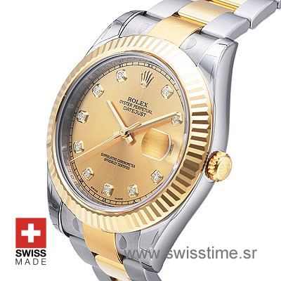 Rolex Datejust II 2Tone Gold Diamonds-1391