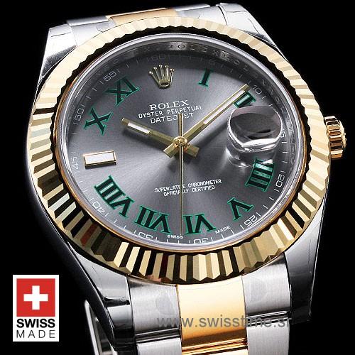 Rolex Datejust II 2Tone Green Roman-1398