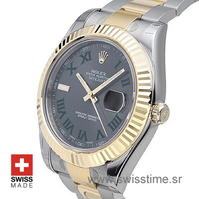 Rolex Datejust II 2Tone Green Roman-1397