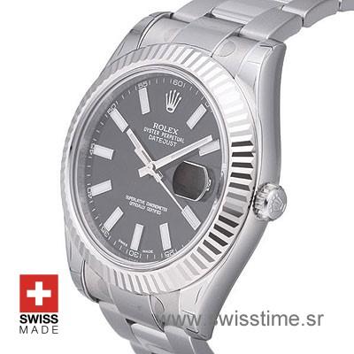 Rolex Datejust II SS Black-1408
