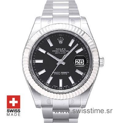 Rolex Datejust II SS Black-0