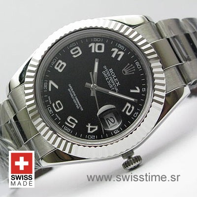 Rolex Datejust II SS Black Arabic-0