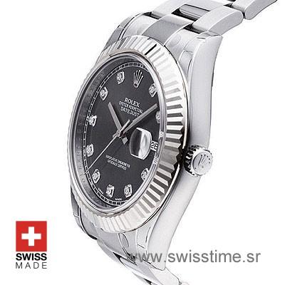 Rolex Datejust II SS Black Diamonds-1422