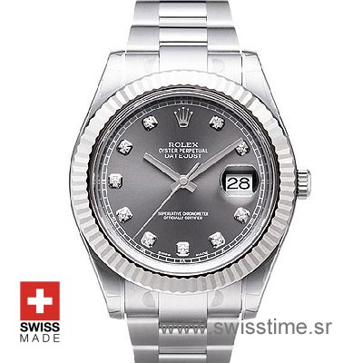 Rolex Datejust II SS Black Diamonds-0