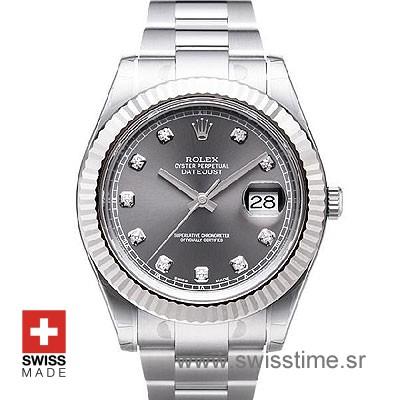 Rolex Datejust 2 Black | Rolex Rhodium Diamond Dial Watch