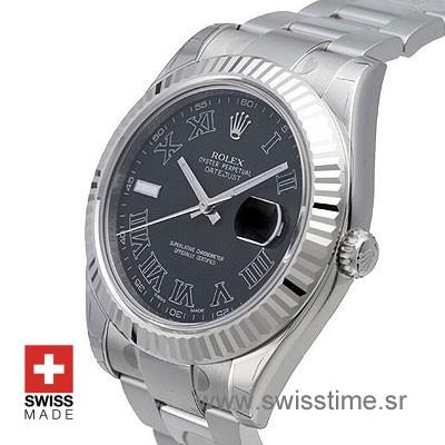 Rolex Datejust II SS Black Roman-1428