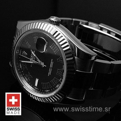 Rolex Datejust II SS Black Roman-1429