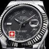 Rolex Datejust II SS Black Roman-1433