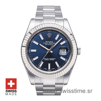Rolex Datejust II Blue Dial Watch | Swiss Movement Watch