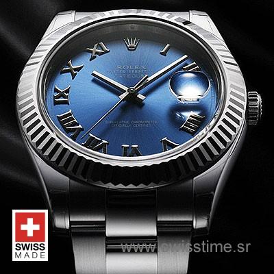 Rolex Datejust II SS Blue Roman-1445