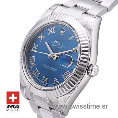 Rolex Datejust II SS Blue Roman-1444