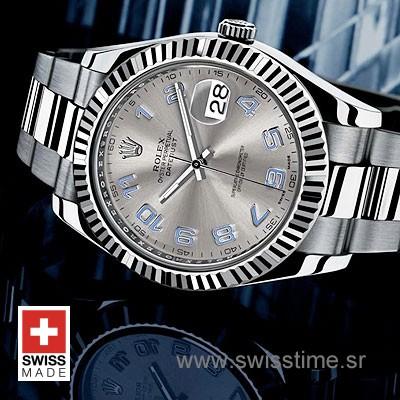 Rolex Datejust II SS Silver Arabic-1454