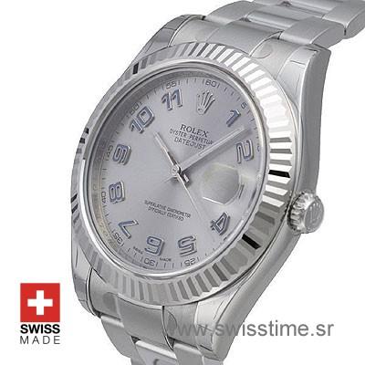 Rolex Oyster Perpetual Datejust 41 Silver   Swiss Replica Watch