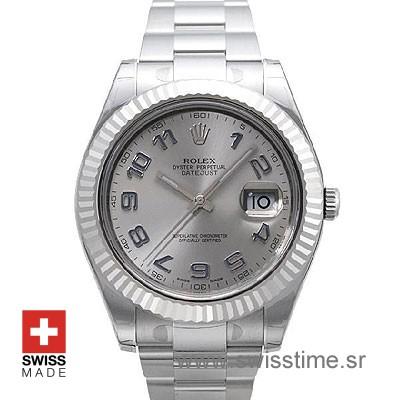 Rolex Datejust II SS Silver Arabic-0
