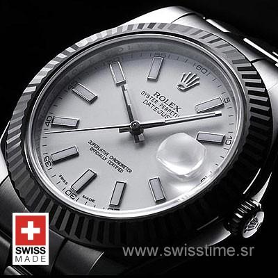 Rolex Datejust II SS White-1470
