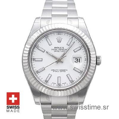 Rolex Datejust II SS White-0