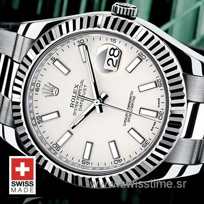 Rolex Datejust II White Dial 41mm   Swisstime Replica Watch