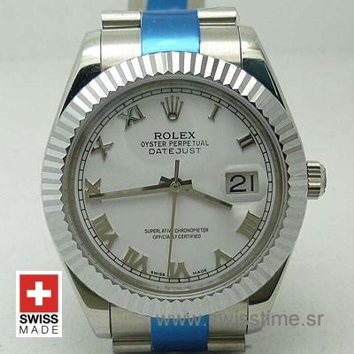 Rolex Datejust II SS White Roman-0