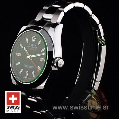 Rolex Oyster Perpetual Milgauss Green | Exact Replica Watch