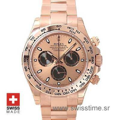 Rolex Daytona Rose Gold Gold 40mm Swiss Replica