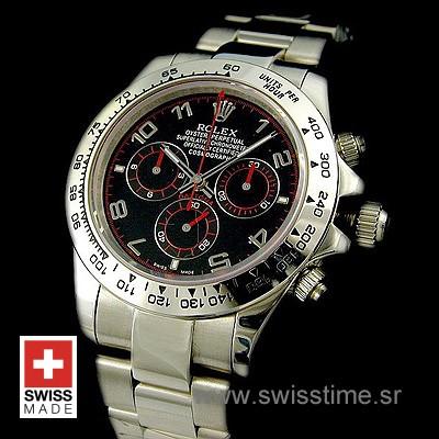 Rolex Daytona SS Black Arabic 40mm Swiss Replica