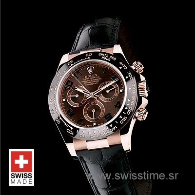Rolex Daytona Rose Gold Chocolate Dial | Swiss Replica Watch