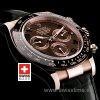 Rolex Daytona Leather Rose Gold Chocolate Ceramic 40mm Swiss Replica