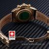 Rolex Daytona Gold Black Dial Brown Leather | Swisstime Watch