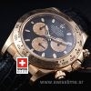Rolex Daytona Gold Leather Strap | High Quality Replica Watch