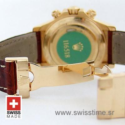 Rolex Daytona Leather Gold Gold-1676