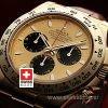 Rolex Cosmograph Daytona Gold Black Dial   Swisstime Watch