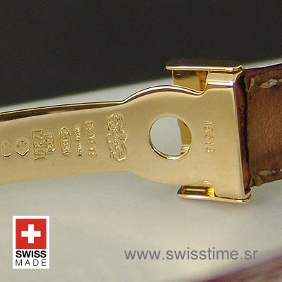 Rolex Daytona Leather Gold Gold Black-1683