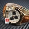 Rolex Daytona Brown Leather Strap   Yellow Gold Replica Watch