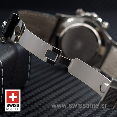 Rolex Daytona Leather SS Black-1708