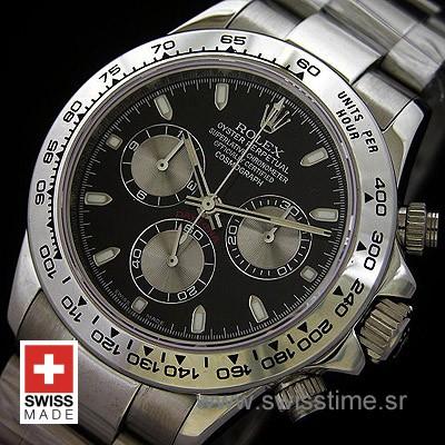 Rolex Cosmograph Daytona Black Dial | Swiss Replica Watch