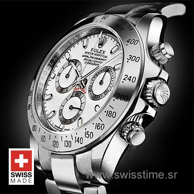 Rolex Daytona SS White Swiss Replica 40mm