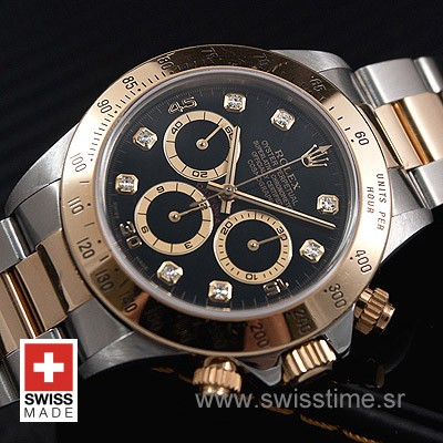 Rolex Daytona 2Tone Black Diamonds-1529