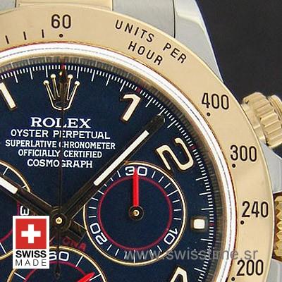 Rolex Daytona 2 Tone Blue Dial | 18k Yellow Gold Replica Watch