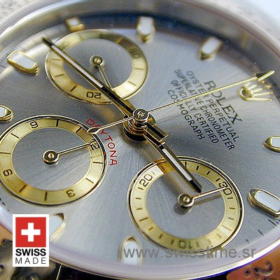 Rolex Daytona Two Tone Grey Dial | Swisstime Replica Watch