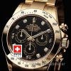 Rolex Daytona Gold Black Diamonds-1595