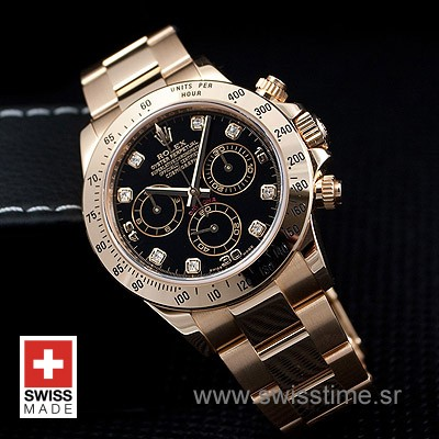 Rolex Daytona Gold Black Diamonds-1594